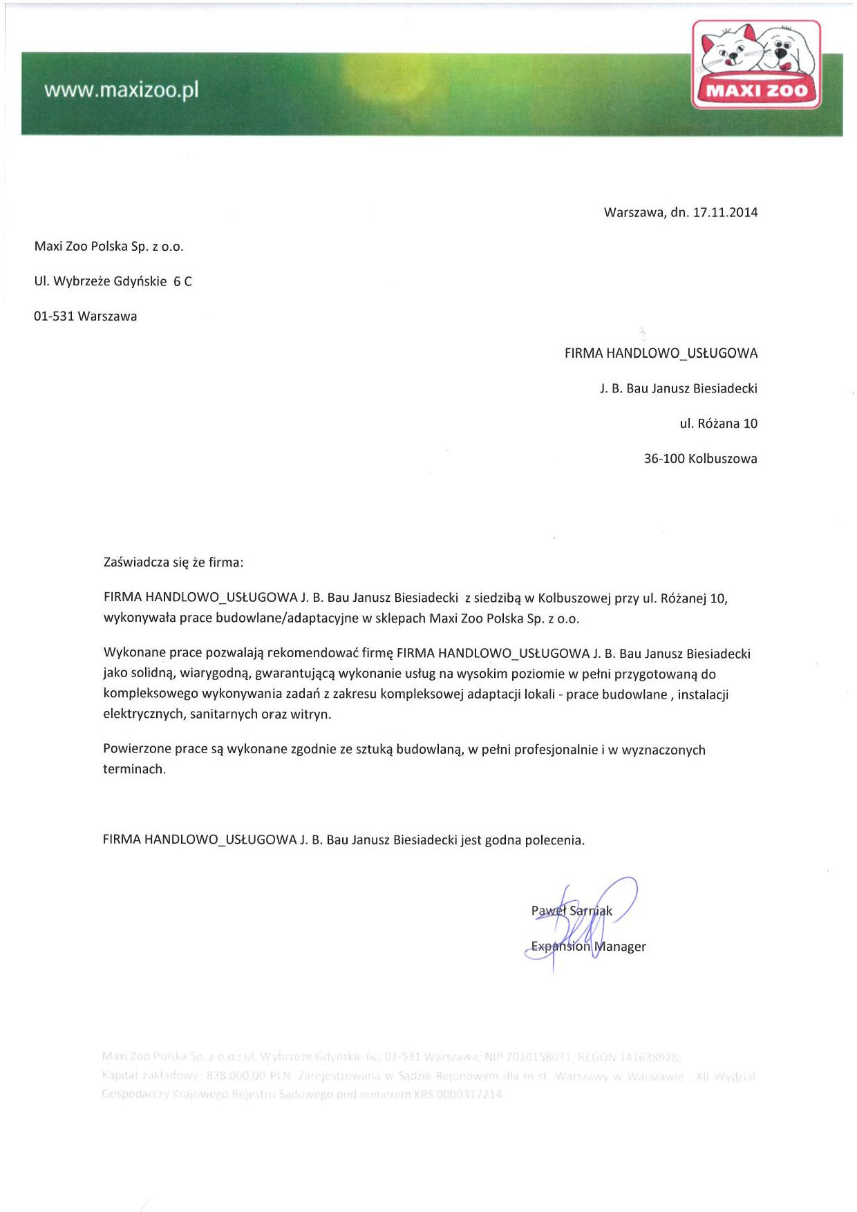 Referencje Maxi Zoo-page-001